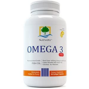 Nutrivato omega 3 pro 800mg epa 600mg dha for Best omega 3 fish oil supplement