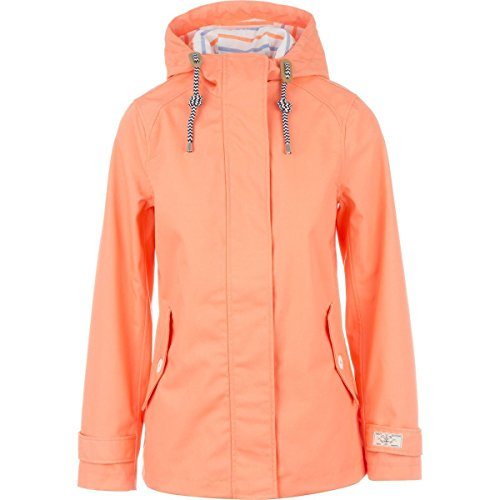 Joules Women's Coast Waterproof Hooded Jacket, Floro Orange, 6 (Joules Rain Coat compare prices)