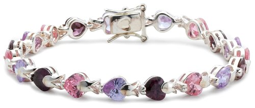 Lavender, Pink and Lilac Cubic Zirconia Bracelet, Silver, 19cm Length, Model 8.21.7852