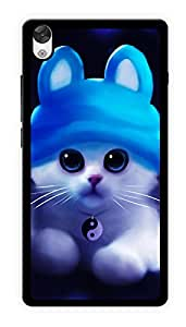 """Humor Gang Cute Kitty Cat Printed Designer Mobile Back Cover For """"OnePlus X"""" (2D, Glossy, Premium Quality Snap On Case)"""