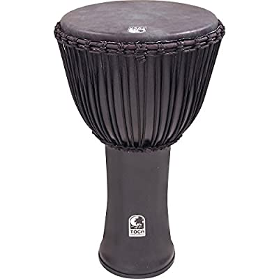 Toca Freestyle Canon Djembe 14 with Bag, Black Mamba