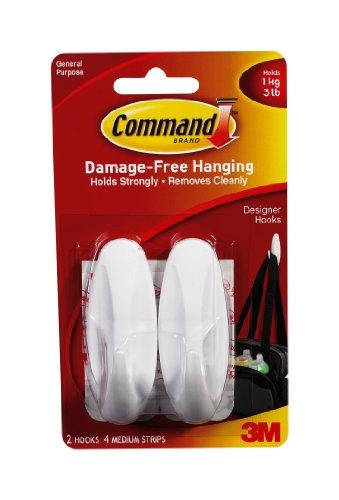 Command Medium Designer Hooks White 2-HookB0000CFN90