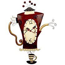 Steamin' Tea & Coffee Pot Wall Clock Michelle Allen Studio Designs