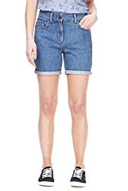 Petite Turn Up Hem Denim Shorts