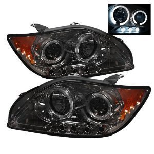 Scion TC 2010 2011 Halo LED Projector Headlights / Smoke