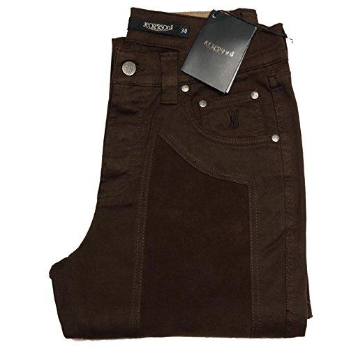 59908 brown pantaloni JECKERSON COMFORT jeans uomo trousers men [30]