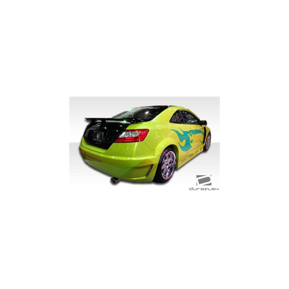 2006 2011 Honda Civic 2DR Duraflex Hot Wheels Widebody Rear Fender Flares   Duraflex Body Kits