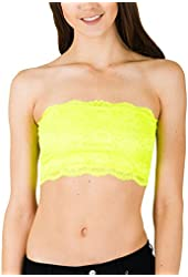 Cotton Cantina Women's Full Lace Bandeau Top In Colors