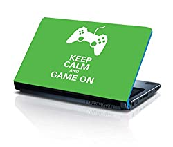 alterEgo Vinyl Laptop Skin- 15.4 IN, Keep Calm and Game On