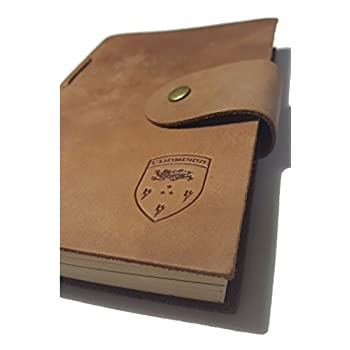 Genuine Leather Journal. Hand Made. Brown Leather Traveler's Notebook. Small A6 Antique Leather With Aged Paper (6 X 4 Inches)