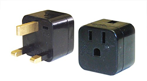 Power Bright Pb-12 Us To Uk 3-Prong Travel Outlet Plug Adapter