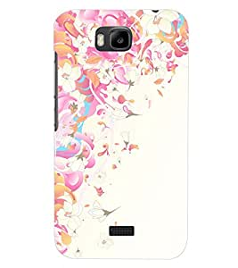 PrintDhaba FLOWER PATTERN D-6536 Back Case Cover for HUAWEI HONOR BEE (Multi-Coloured)