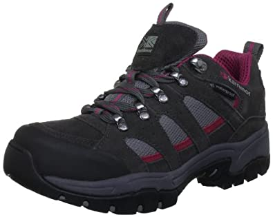 Karrimor Bodmin 3, Women's Trekking and Hiking Shoes, Dark Grey/Cochineal, 4.5 UK
