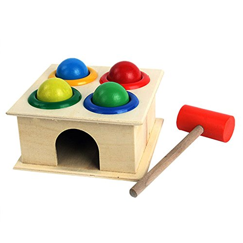 Silvercell Baby Hammering Wooden Ball Hammer Box Early Learning Educational Toys
