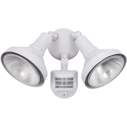Globe Electric 79125 150-Watt Motion Sensored Outdoor Security Light Fixture, White