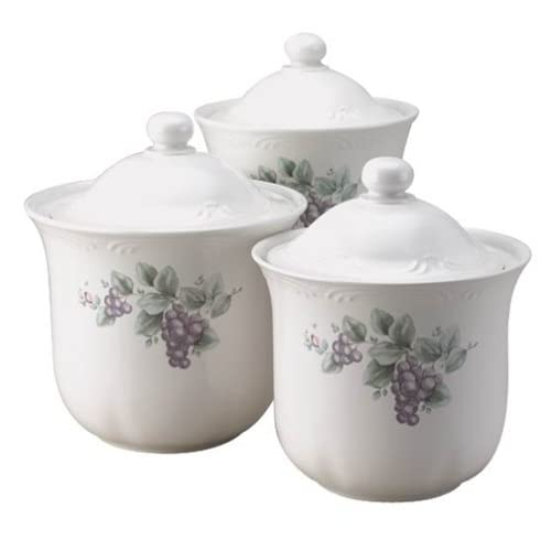 Pfaltzgraff Grapevine 3-Piece Sealed Canister Set