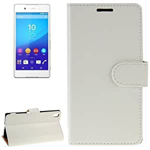 Crazy Horse Texture Horizontal Flip Solid Color Leather Case with Holder & Card Slots & Wallet for Sony Xperia Z4 (White)