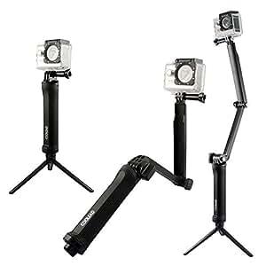 (クールリート) COOLEAD 調節可能3ウェイ3-Way グリップアーム三脚用カメラマウント延長ポールゴープロ用アクセサリーGoproHERO 2 3 3+ 4机型用