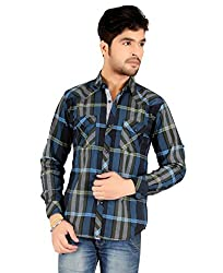 Carbone Men's Silm Fit Casual Shirt-M