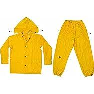 3-Piece Polyester 0.18MM Rain Suit-XXL.18 YEL POLY RAINSUIT