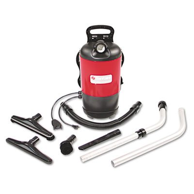 New - Commercial Backpack Vacuum, 11.5 Lbs, Red - Sc412A front-146352