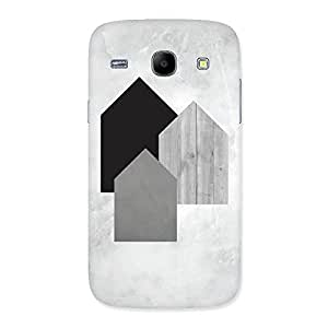 White Grey Black Back Case Cover for Galaxy Core