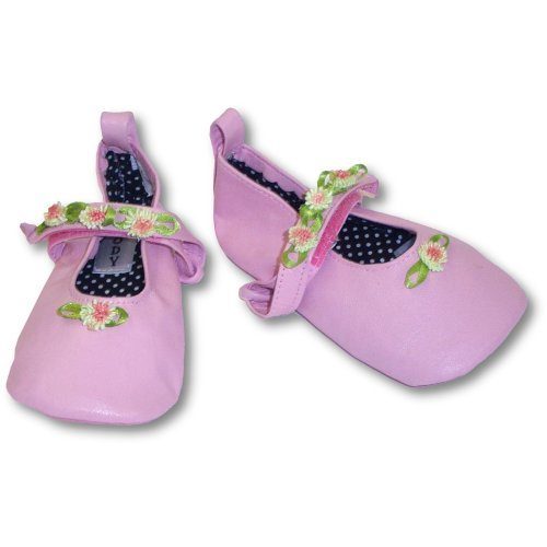 Cheap Infant Shoes  Pink Rosette Ballerina Leather Slippers  9896 (B000I9SQXQ)