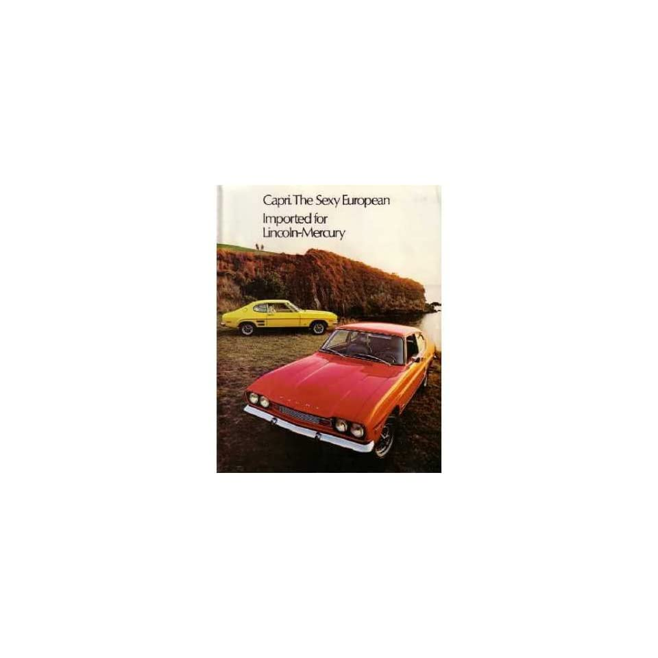 1972 Mercury Capri Sales Brochure Literature Book Piece Advertisement Options Automotive
