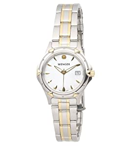 Wenger Women's 70236 Standard Issue MOP Dial Two-Tone Bracelet Watch