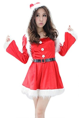 Pink Queen Womens/Girls Naughty Miss Santa Claus Costume Dress Christmas Outfits