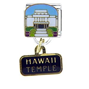 Pugster Mormon Temple Hawaii Italian Charms Bracelet Link