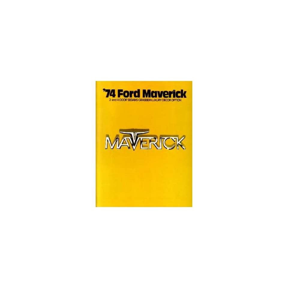 1974 Ford Maverick Sales Brochure Literature Advertisement Piece Options Book
