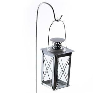 Set of two black garden lanterns garden - Lanterne de jardin ikea ...