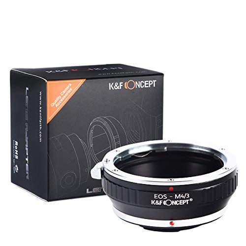 K&F Concept Lens Mount Adapter for Canon EOS EF mount Lens to M4/3 MFT Olympus PEN and Panasonic Lumix Cameras / such as Olympus PEN E-P1 P2 P3 P5 E-PL1 PL1s PL2 PL3 PL5 PL6 E-PM1 PM2 OM-D E-M5 E-M1, Panasonic Lumix DMC-GH1 GH2 GH3 GX7 G1 G2 G10 G3 G5 G6 GF1 GF2 GF3 GF5 GF6 GX1 (Canon Eos Ef Lens To Micro 4 3 compare prices)