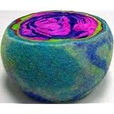 Original Large Multi-Color Ewesful Felted Wool Pincushion Pin Cushion (Color: Multi Color (Varies), Tamaño: 4