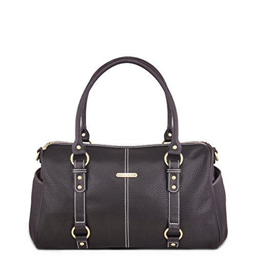 timi & leslie Madison 7 Piece Diaper Bag Set, Black Edition