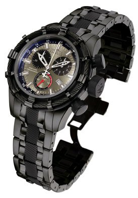 Invicta Men's Reserve Collection Black and Gun Metal Ion-Plated Chronograph Watch #5629