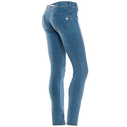 Freddy Wrup Skinny Pantalone, Jeans Chiaro, XS
