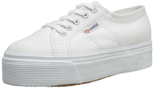 Superga Unisex-Adult 2790 Linea Updown Flatform Low-Top Trainers S0001L0 White 5 UK, 38 EU