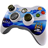 Official Manchester City FC Xbox 360 Controller Skin - A Great Gift / Present For Men, Boys, Sons, Husbands, Dads, Boyfriends For Christmas, Birthdays, Fathers Day, Valentines Day, Anniversaries Or Just As A Treat For Any Avid Football Fan