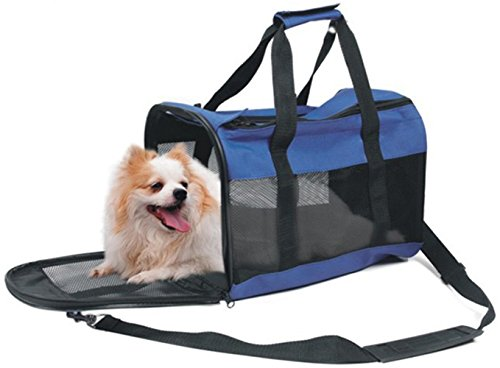 Pet Jet Soft-Sided Travel Pet Carrier, Mesh Side Windows and Doors for Ventilation and Comfort, For Cat or Small Dog, Airline Approved For In-Cabin Under Seat Storage, & Adjustable Shoulder Strap