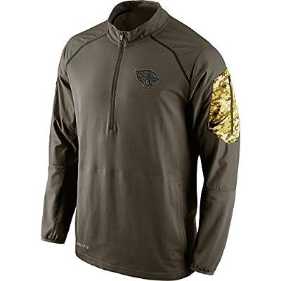 Jacksonville Jaguars Salute to Service NFL 2015 Nike Hybrid 1/4 Zip Jacket Pullover Mens 3XL