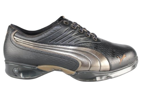 Puma Men's Cell Fusion Argyle Golf Shoes - Black / Bronze - UK 7