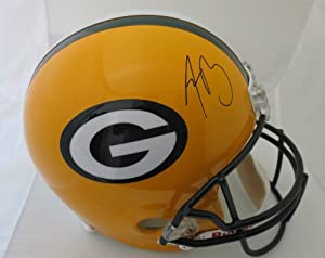 Aaron Rodgers Autographed Green Bay Packers Signed Full Size Helmet by Powers Collectibles