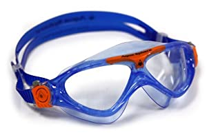 Aqua Sphere Vista Junior Swim Mask with Clear Lens, Lightblue/Orange