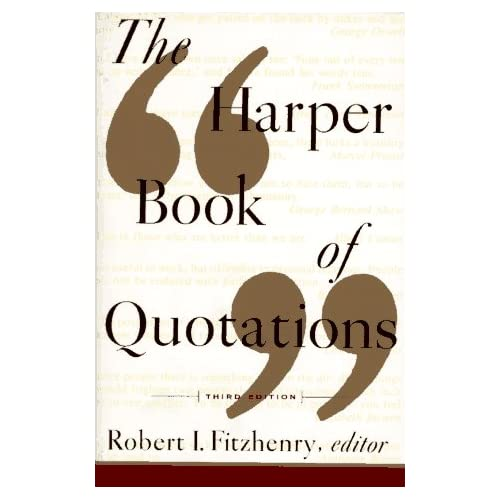 Book Review: The Harper Book of Quotations