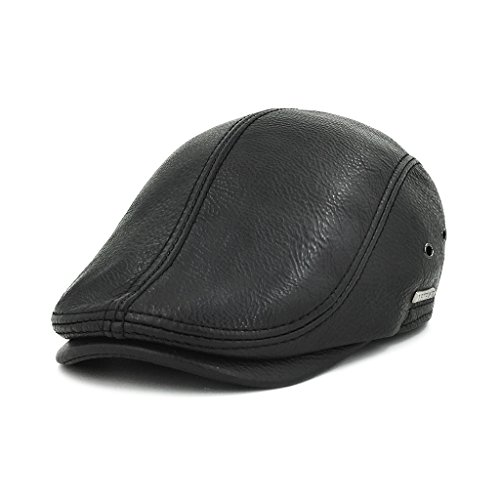 Review Of LETHMIK Flat Cap Cabby Hat Genuine Leather Vintage Newsboy Cap Ivy Driving Cap