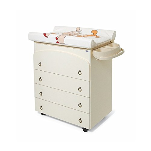 Mobile fasciatoio avorio cassettiera + cuscino + vaschetta bagnetto bimbo arredo