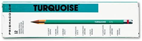 Prismacolor  Turquoise Drawing Pencil 4B 198 mm Dozen - Sold as 2 Packs of - 12 -  - Total of 24 Eac