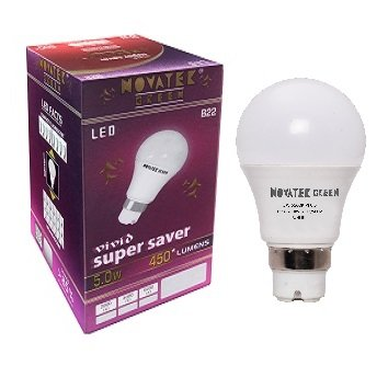 NOVATEK-GREEN-5W-LED-Bulb-(Cool-White)